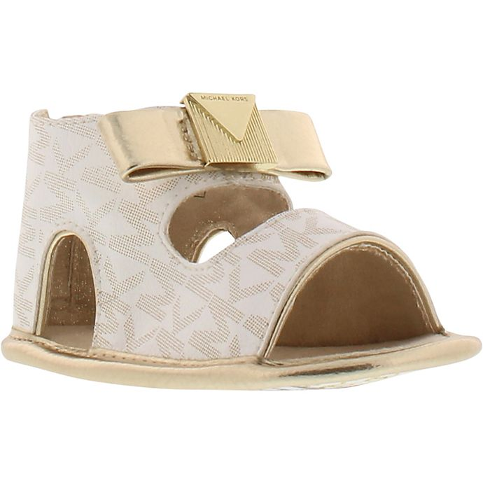 30cc2eb42 Michael Michael Kors Baby Dolly Sandal in White/Gold | buybuy BABY