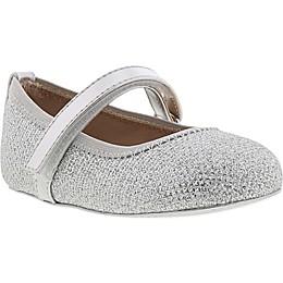 Stuart Weitzman Glitter Mesh Mary Jane Shoe in Cream