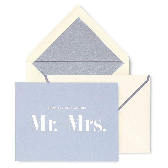 Alternate image 1 for kate spade new york Mr. and Mrs. Thank You Cards (Set of 10)