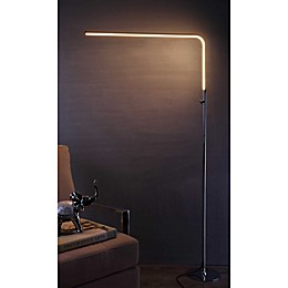 "JONATHAN Y Natalie 63"" LED Integrated Floor Lamp in Chrome"