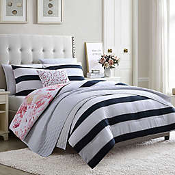 Hampton Stripe 7-Piece Reversible Comforter Set