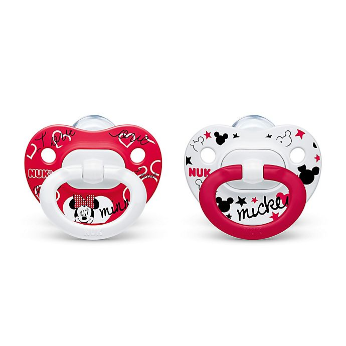 Alternate image 1 for NUK® Disney® Minnie Mouse 2-Pack Size 0-6M Orthodontic Pacifiers