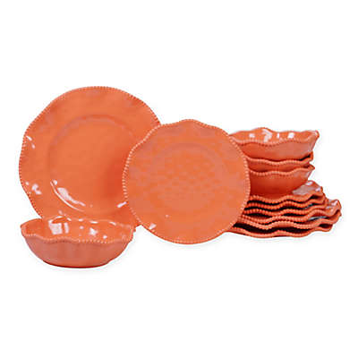 Certified International Perlette Coral Melamine Dinnerware Collection