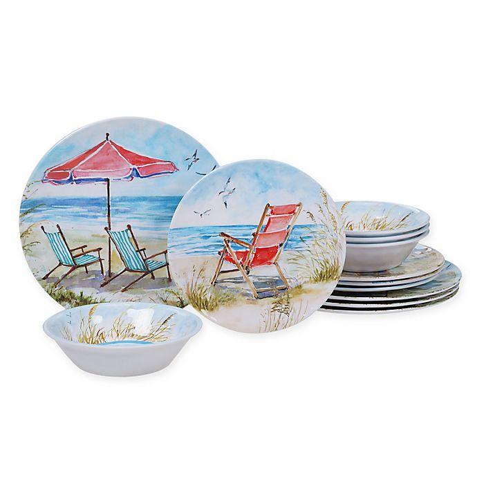 Alternate image 1 for Certified International Ocean View 12-Piece Dinnerware Set