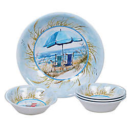 Certified International Ocean View 5-Piece Salad Serving Set
