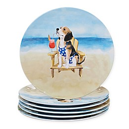Certified International Hot Dogs Dinner Plates (Set of 6)