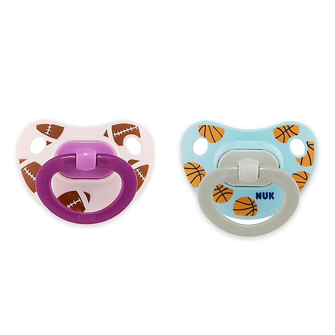 Alternate image 1 for NUK® Sports Girl 2-Pack 18-36M Sports Orthdontic Pacifiers