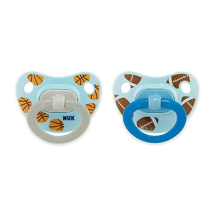 Alternate image 1 for NUK® Sports Boy 2-Pack Orthdontic Pacifiers