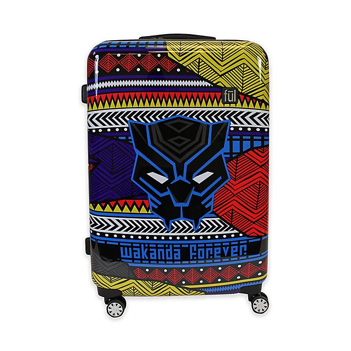 Alternate image 1 for ful® Marvel® Black Panther Tribal Art 29-Inch Hard Sided Expandable Spinner Suitcase