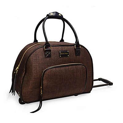 Adrienne Vittadini 2-Tone Rolling Duffle Bag