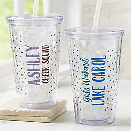 Any Message Personalized Acrylic Insulated Tumbler
