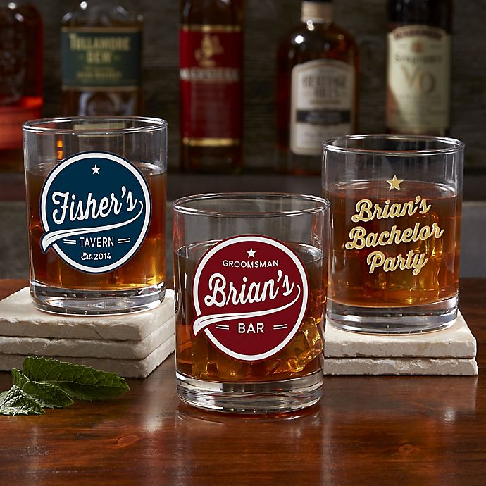 Alternate image 1 for Brewing Co. Personalized Printed Whiskey Glass