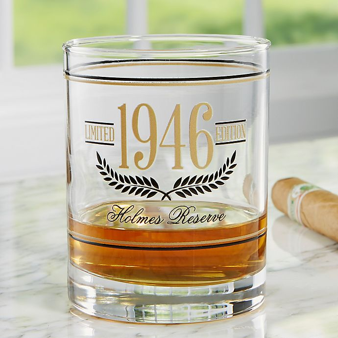 Alternate image 1 for Aged To Perfection Personalized 14 oz. Whiskey Glass