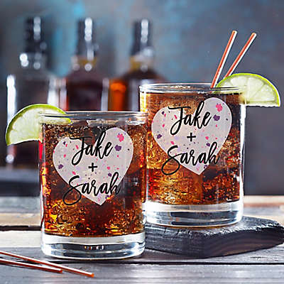 So In Love Valentine's Day Couple Whiskey Glass
