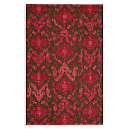 "Nourison Siam 3'6"" x 5'6"" Hand Tufted Area Rug in Brown/Red"