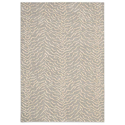 "Nourison Nepal 7'9"" x 10'10"" Machine Woven Area Rug in Quartz"