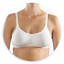 Cantaloop® Seamless Adjustable Nursing Bra in White