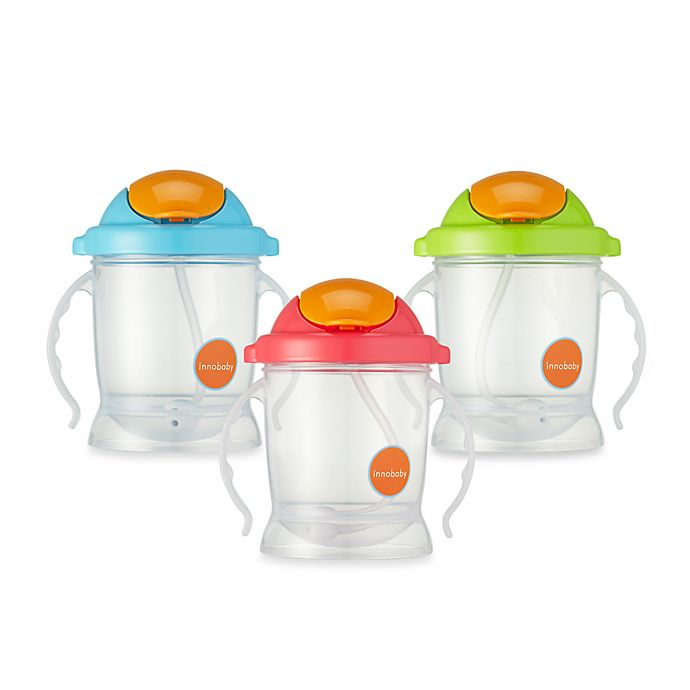 Alternate image 1 for Innobaby Sippin' Smart EZ Flow Straw Sippy 10-Ounce