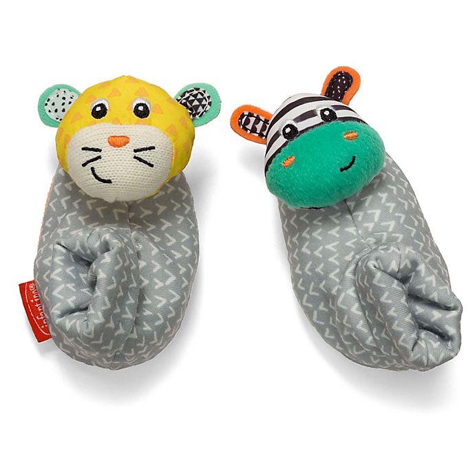 Alternate image 1 for Infantino® Foot Rattles™ in Tiger/Zebra