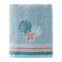 Seaside Harbor Bath Towel in Blue