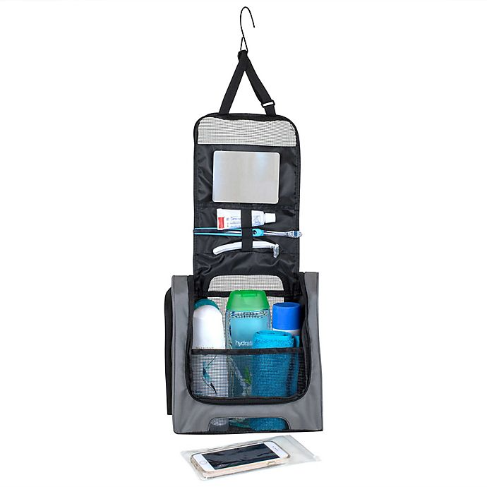 Alternate image 1 for CleverMade Portable Shower Caddy in Grey