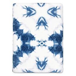 Shibori Stamp Bath Towel in Denim