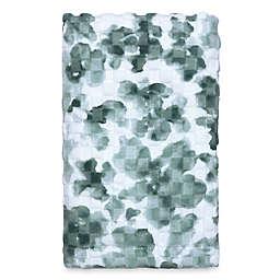 Abstract Daisy Hand Towel in Aqua