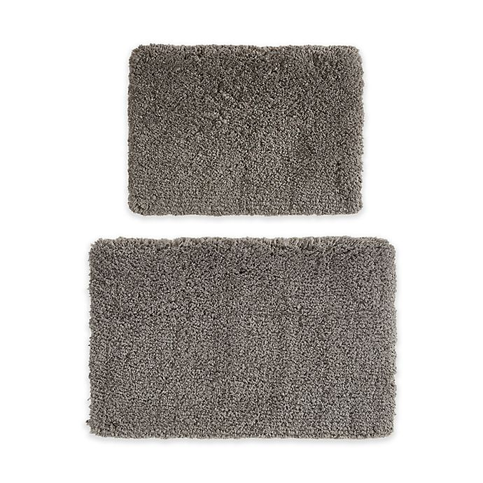 Alternate image 1 for 510 Design 2-Piece Annie Bath Rug Set in Charcoal