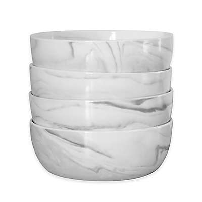 Artisanal Kitchen Supply® Coupe Marbleized Cereal Bowls (Set of 4)