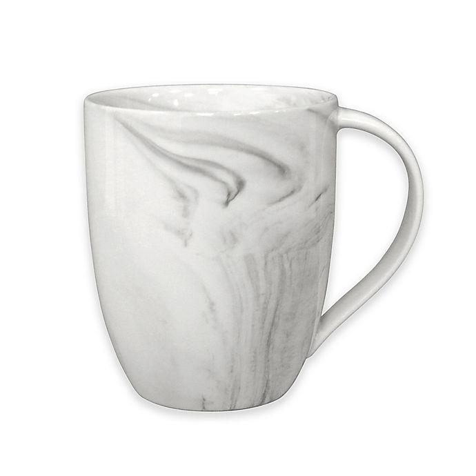 Alternate image 1 for Artisanal Kitchen Supply® Coupe Marbleized Mug in Grey