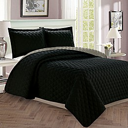 Luxury Diamond Reversible Quilt Set