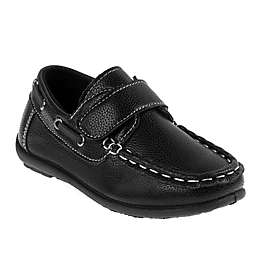 Josmo Shoes Casual Loafer Boat Shoe in Black