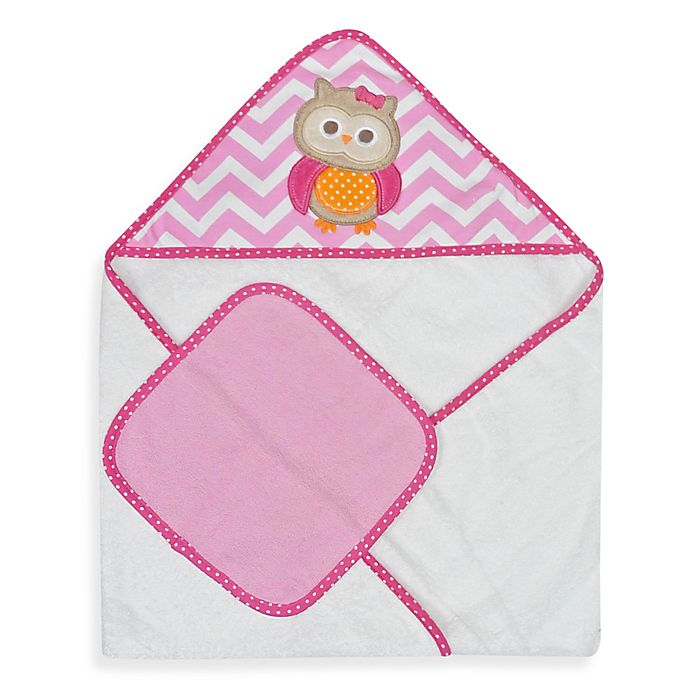 Alternate image 1 for Neat Solutions® Owl Hooded Towel & Washcloth Set