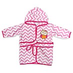 Neat Solutions® Hooded Fleece Bathrobe in Pink Owl
