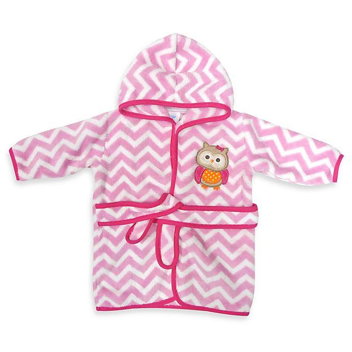 Alternate image 1 for Neat Solutions® Hooded Fleece Bathrobe in Pink Owl