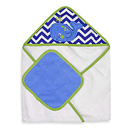 Neat Solutions® Whale Hooded Towel & Washcloth Set