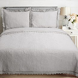 Crochet Lace Embroidered Reversible Quilt Set