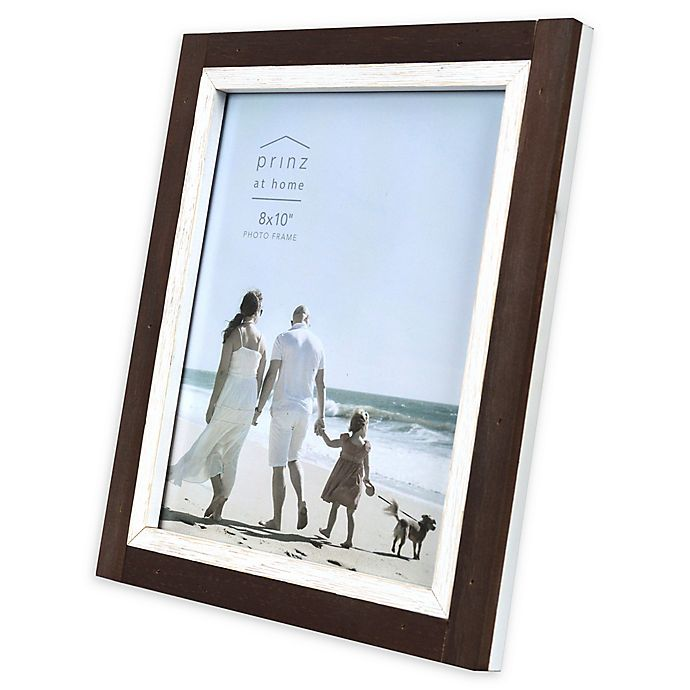 Alternate image 1 for Prinz Shoreline 8-Inch x 10-Inch Picture Frame in Brown/White