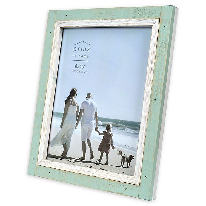 Alternate image 1 for Prinz Shoreline 8-Inch x 10-Inch Picture Frame in Green/White