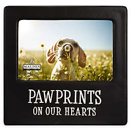 Malden® 4-Inch x 6-Inch Paw Prints On Our Hearts Picture Frame in Black