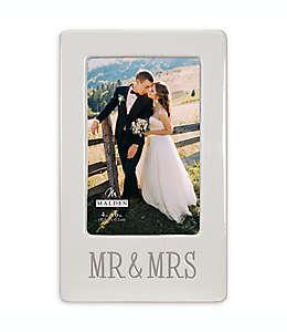 """Portarretratos Malden® con frase """"Mr & Mrs"""" en blanco"""