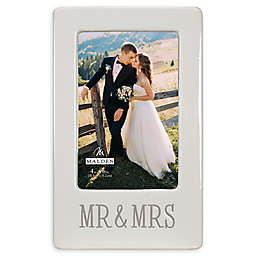 Malden® 4-Inch x 6-Inch Mr. & Mrs. Picture Frame in White
