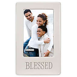 Malden® 4-Inch x 6-Inch Blessed Picture Frame in White