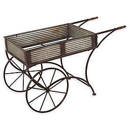 Gerson Metal Flower Cart in Grey
