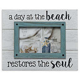 Prinz Life A Day At The Beach 4-Inch x 6-Inch Picture Frame in White