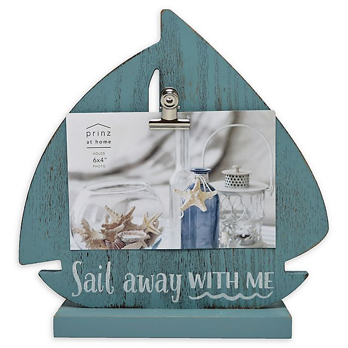 Alternate image 1 for Prinz Sail Away 4-Inch x 6-Inch Picture Frame in Green