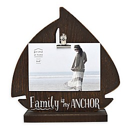 Prinz Family Is My Anchor 4-Inch x 6-Inch Picture Frame in Brown