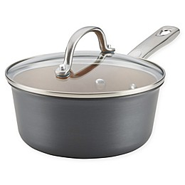 Ayesha Curry™ Hard Anodized Aluminum Covered Saucepan in Charcoal Grey