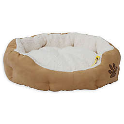 Plush Pet Bed with Removable Insert Pillow