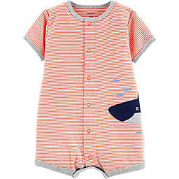 carter's® Stripe Whale Romper in Red/White